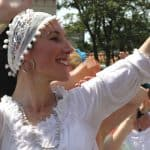 Rosaria Gracia and dancers at Kemptown Carnival